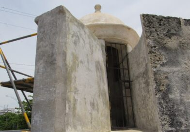 Club de Pesca de Cartagena avanza con las obras del Fuerte San Sebastián del Pastelillo
